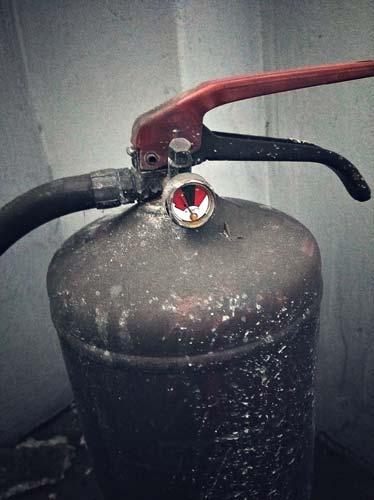 gaśnica po pożarze