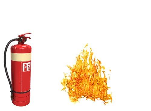 przegląd gaśnic ogień