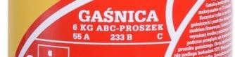 skuteczność gaśnicza 55A